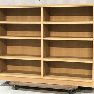 美品!木製棚 シェルフ◇本棚◇4段◇ナチュラルオーク◇