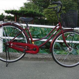 中古自転車LEDオートライト 27インチママチャリ 馬蹄カギ付★...