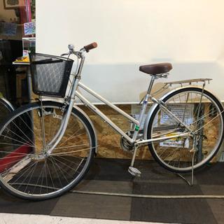 27インチ自転車 シルバー