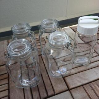 果実酒用 ビン 3L×4本 2L×1本