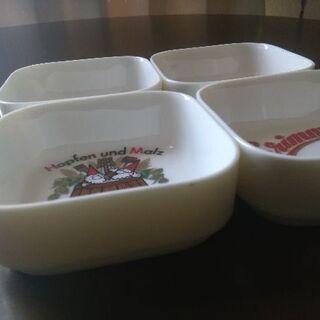 サンタ角小皿 4個セット