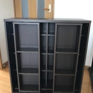 美品 スライド式本棚 シェルフ