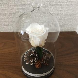 白バラのオブジェ