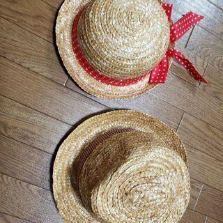 キッズ用麦ワラ帽子👒