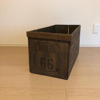 木箱 ルート66ステンシル入