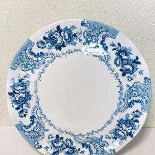 【無料】新品未使用の食器(大皿とボウル)絵柄入り <2>
