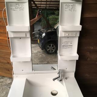 【取引き中】使用少ない洗面台のセット(配達可能)