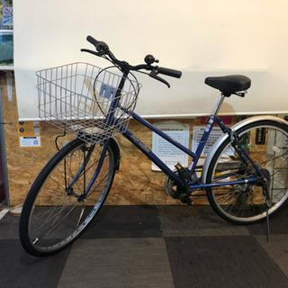26インチ 6速 自転車 ブルー