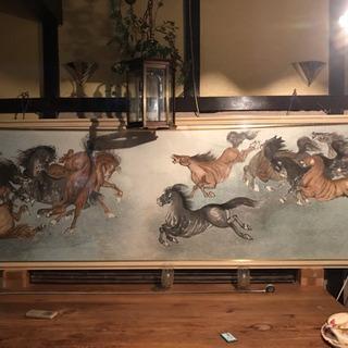 中国の馬の絵(額付き)とにかく大きいです