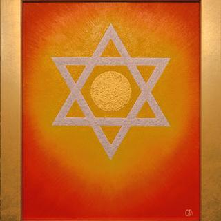 開運奇跡『ダビデの星』★がんどうあつし絵画油絵F3アクリル…
