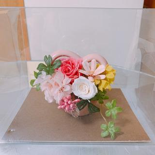プリザーブドフラワー(ピンク・ハート)