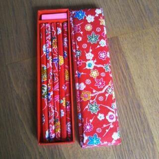 和柄布鉛筆&筆箱?