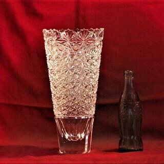 HOYAクリスタルガラスフラワーベース 花瓶 花器 箱なし HOYA