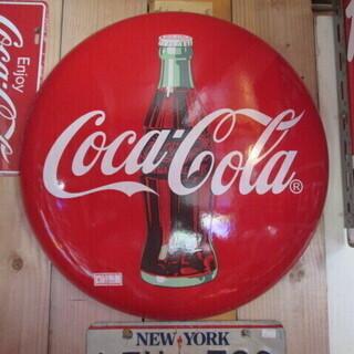 コカ・コーラ 丸型看板  直径約50㎝/ホーロー・インテリア・レトロ