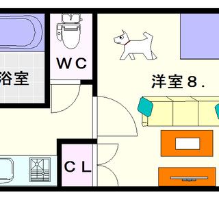 【セオリー難波WEST】2号タイプ!1Kタイプ!人気の分譲シリー...
