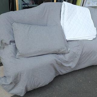札幌市 無印 羽毛ふとん ベッド用 シングル 150x210cm...