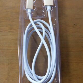 C端子? マグネット充電ケーブル ゴールド&ホワイト