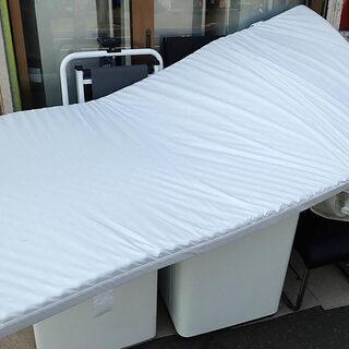 札幌市 無印 シングル 敷布団 100x200cm カバー洗える 中古