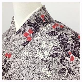 美品 単衣仕立て 身丈155 裄63 特選 小紋 高級呉服 正絹