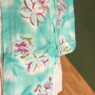水色の浴衣