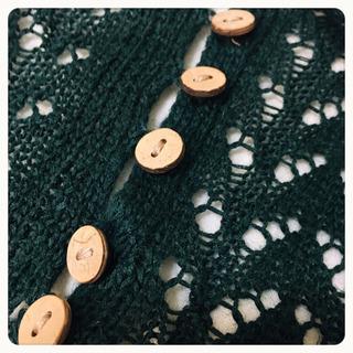 【merlot】かぎ編み サマーニット LサイズOK - 服/ファッション