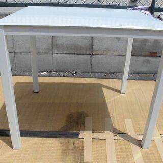 強化ガラステーブル/机/幅80cm奥行70cm高さ70cm JM...