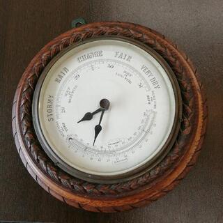 565 アンティーク 温湿度計/時計