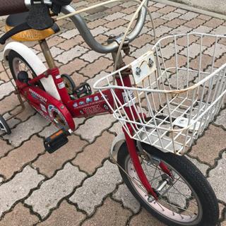 殺到中!!14インチコマ付き子供自転車