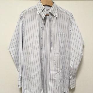 Yシャツ  紳士 ブルーストライプ