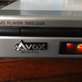 AVOX DVDプレーヤー CPRM対応 SWS-220A - 家電