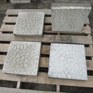 カラー平板(コンクリート製);ホワイト色(乱張り模様)30*30...