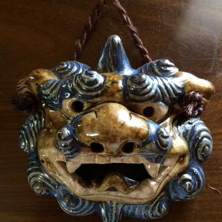 沖縄シーサーの壁掛け(陶器)