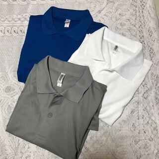 メンズ★半袖ポロシャツ3枚セット/LL
