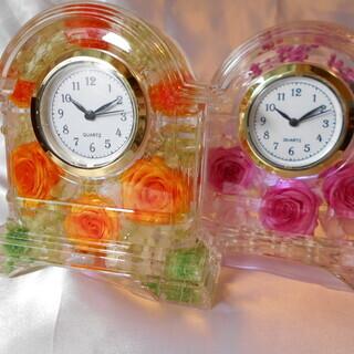 美しいハーバリウム時計を作ってみませんか?お祝い事の贈り物に手作りを!