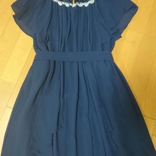 【 値下げしました!】ビジュー付シフォンワンピース☆ドレス