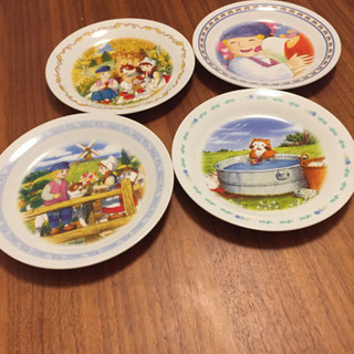 非売品絵皿 フランダースの犬、ラスカル計4枚
