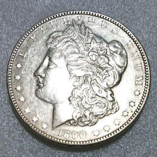 アメリカ古銭 モルガン1ドル銀貨 1890年「送料無料」