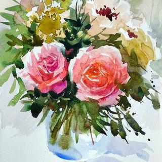 透明水彩で「花」を描きませんか? 無料体験レッスン!