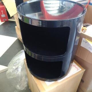 二段収納ケース 黒