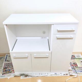 キッチンカウンター スライド棚 コンセント付き 食器棚