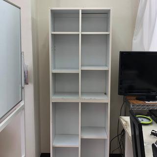ホワイト木製棚