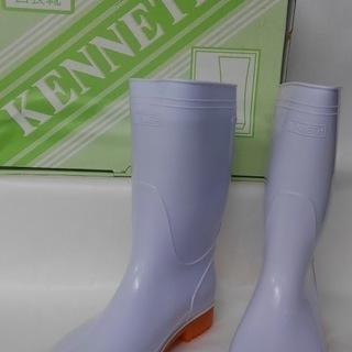 【未使用】 白長靴  25.0㎝ EEE 耐油 KENNETH