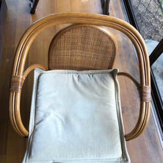 回転式座椅子(籐)