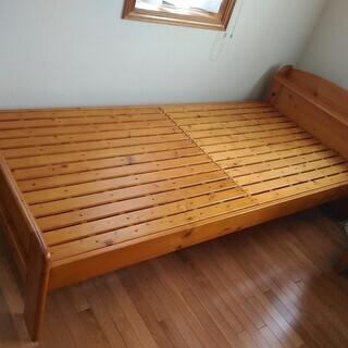 すのこシングルベッドのフレーム2台
