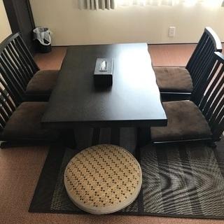 和室用テーブルと椅子セット
