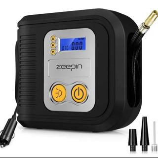 【新品未使用】LEDライト付き 電動空気入れ エアコンプレッサー