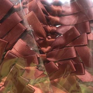 茶色 リボン 両面テープ付き 60個まとめ売り