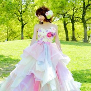 レインボー カラードレス wedding