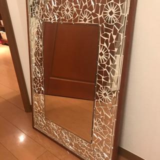 【引き取り日限定】アンティークな大きい鏡