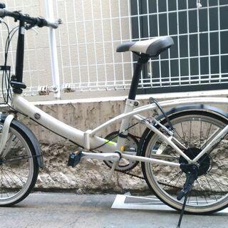 折りたたみ自転車ー白のFIAT